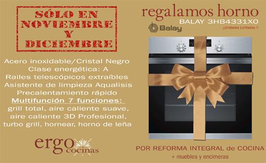 Oferta-Promoción Cocina Completa : Regalo Horno Balay